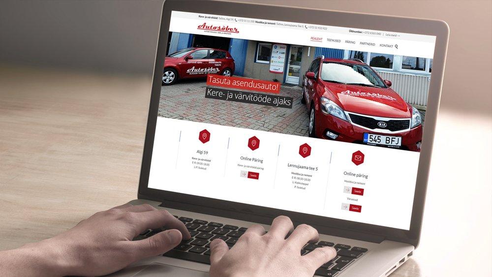 Autosõber – Korporatiivne veebileht