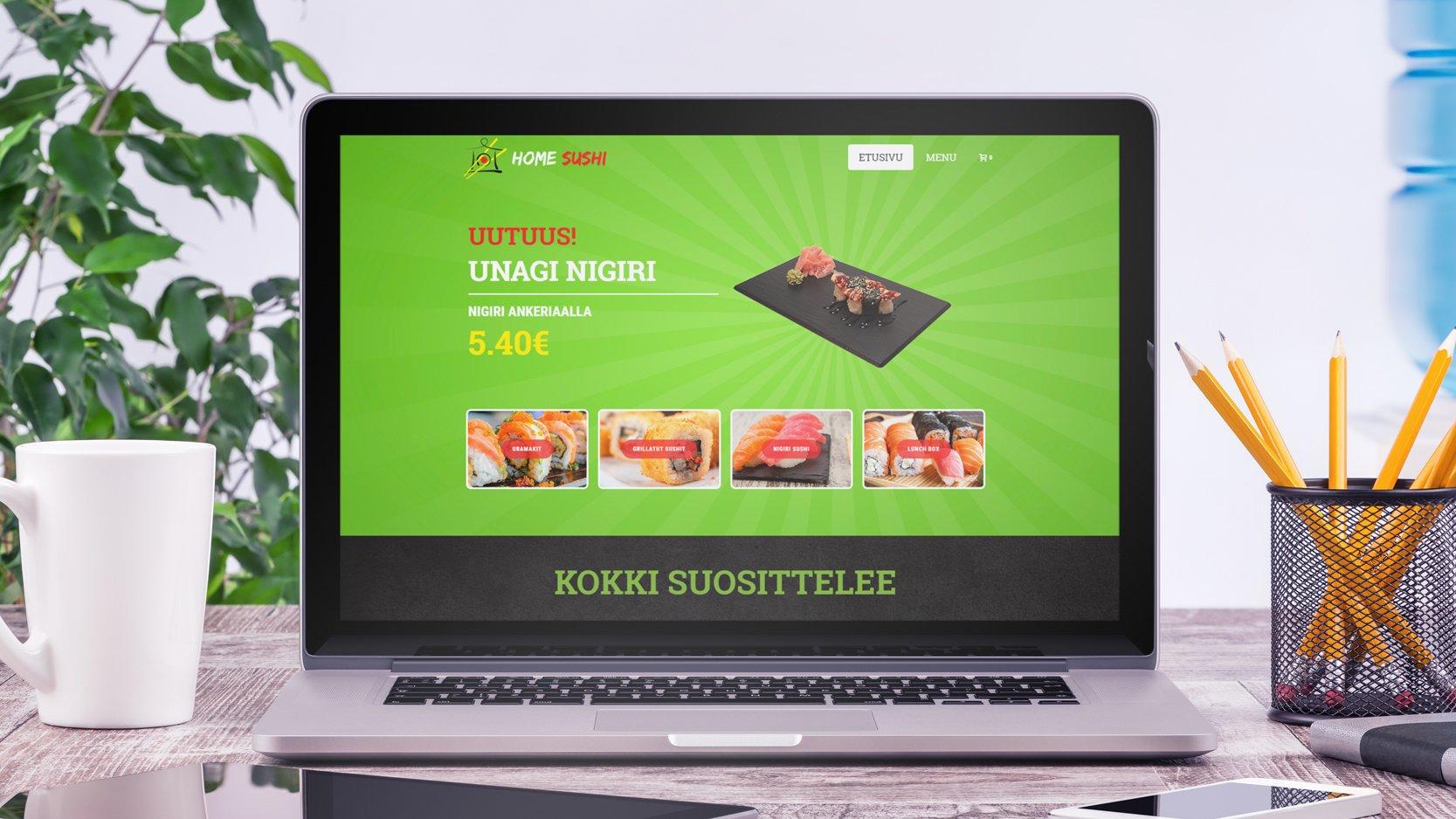 Сайт доставки суши Homesushi.fi