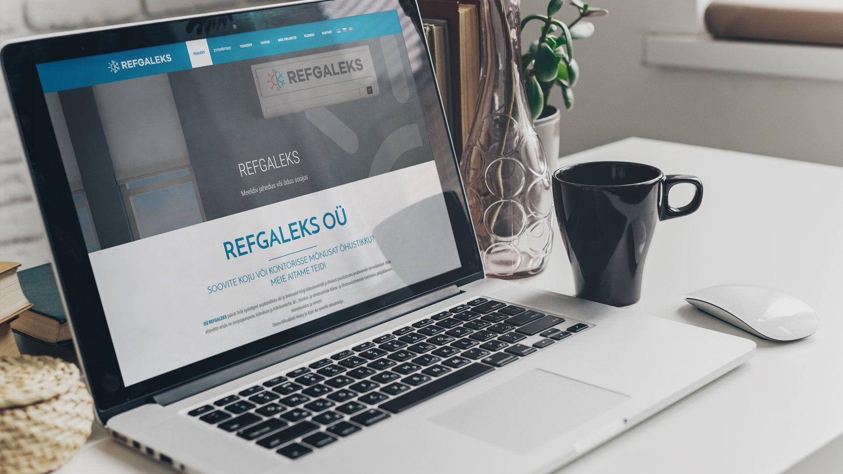 Корпоративный сайт с каталогом Refgaleks.ee