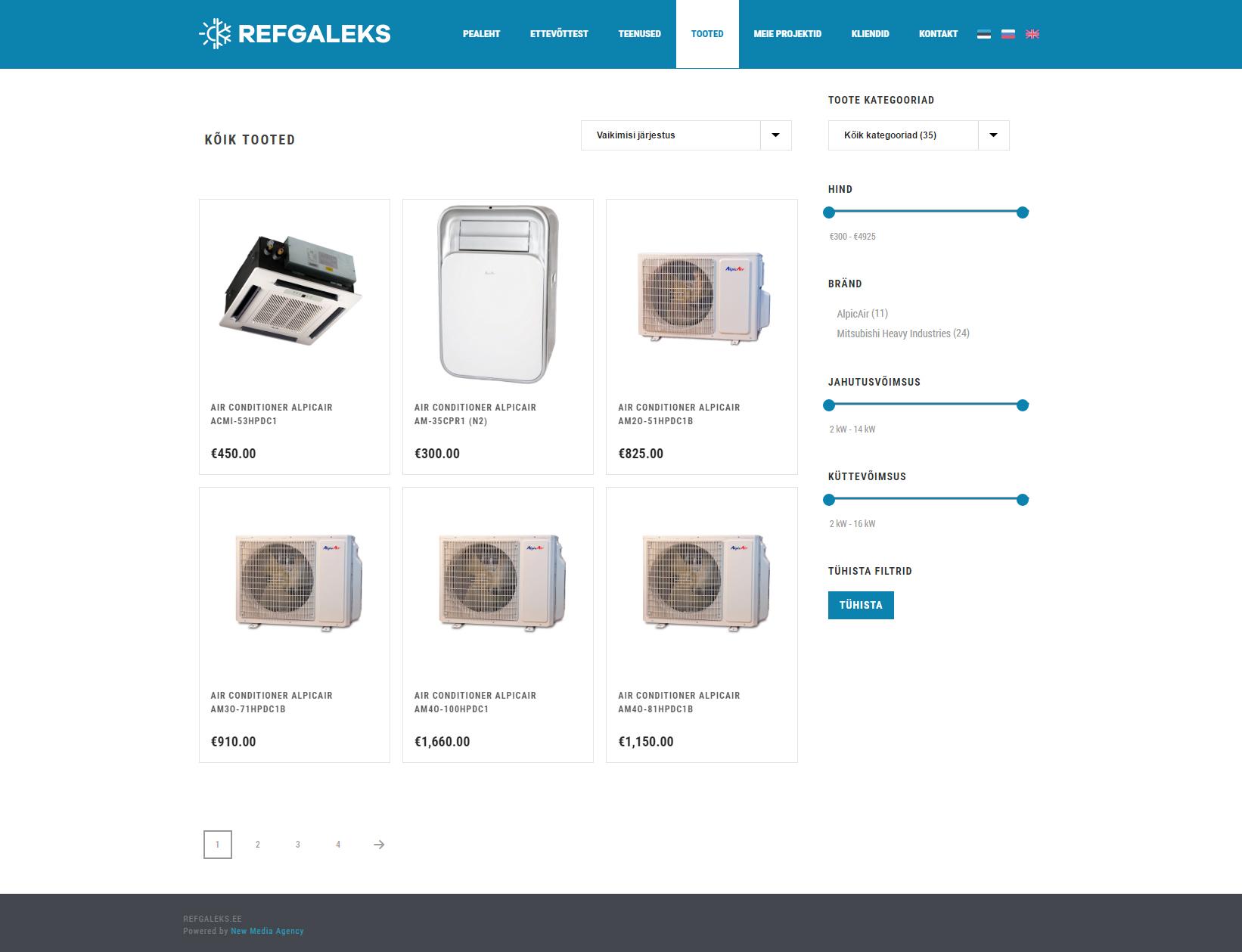 Refgaleks products