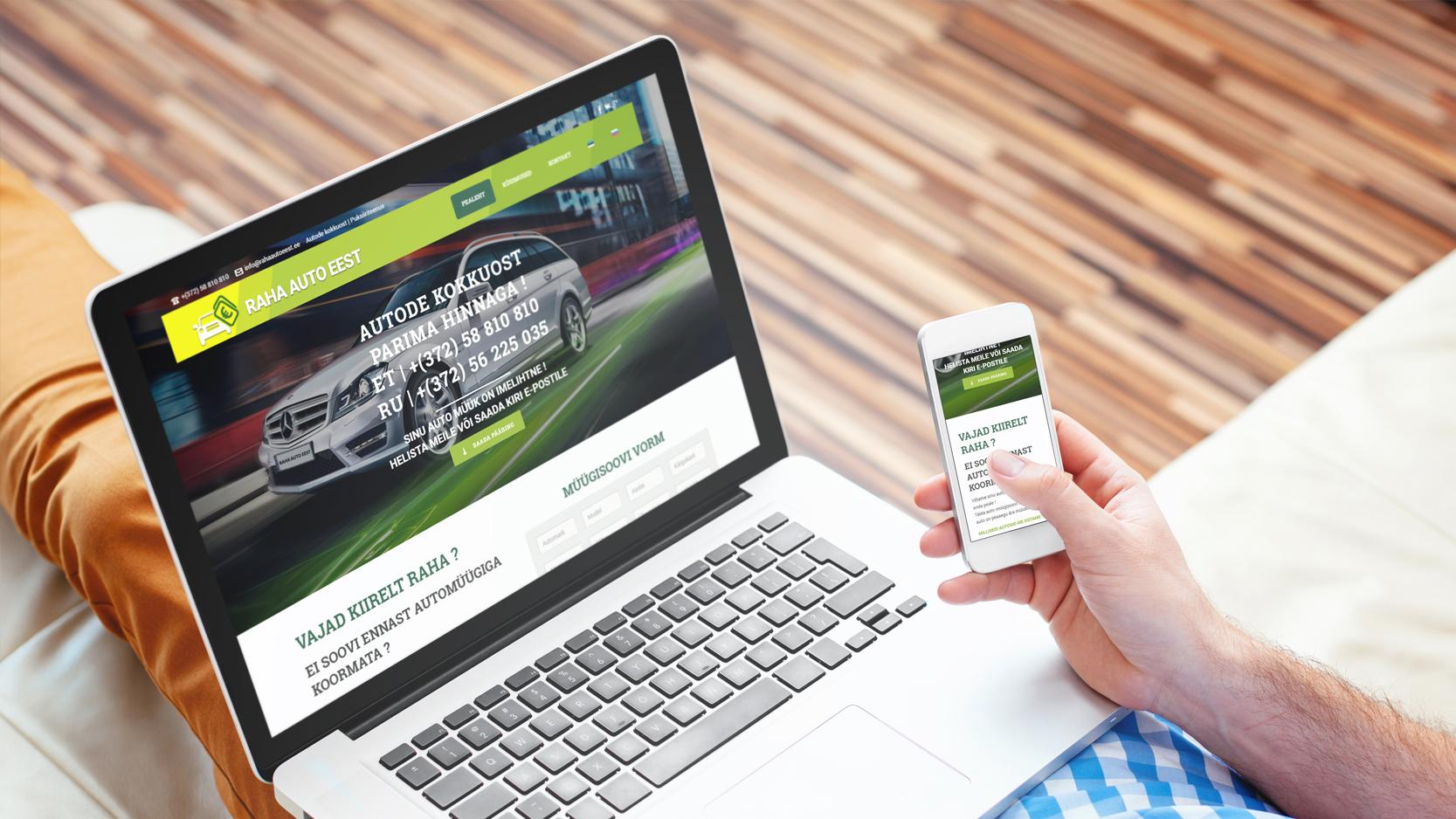 Autode kokkuost veebileht Rahaautoeest.ee