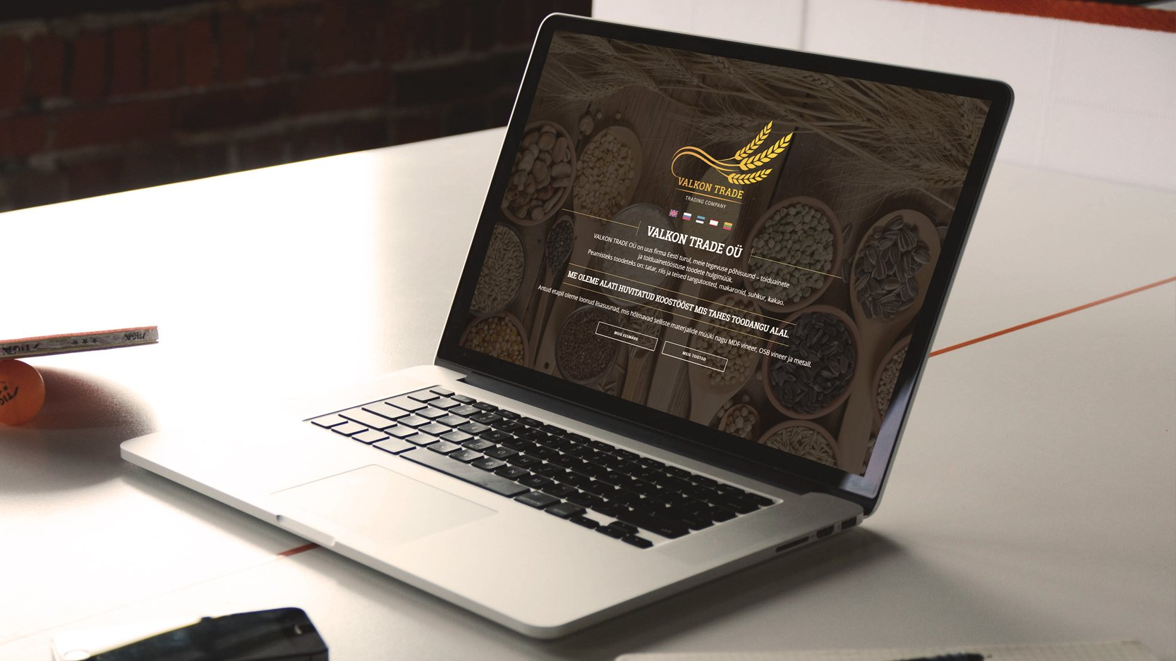 Valkontrade – Landing veebileht