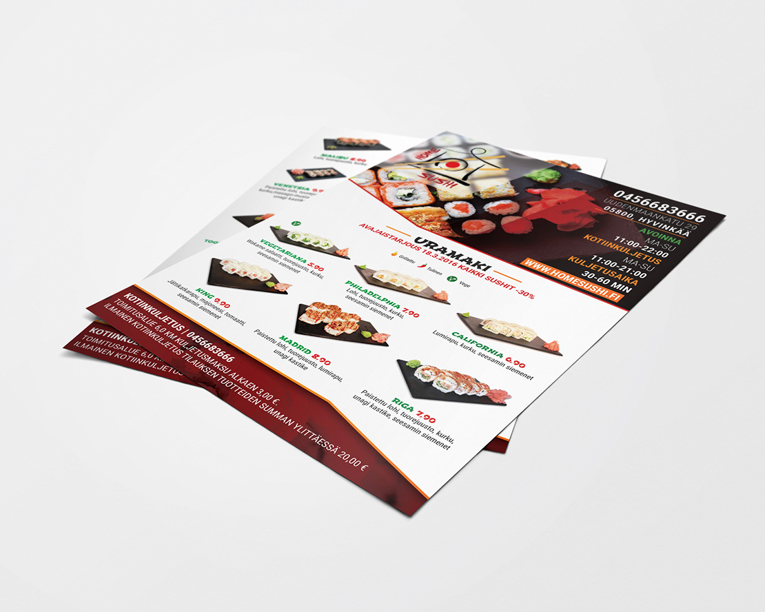 Homesushi flyer